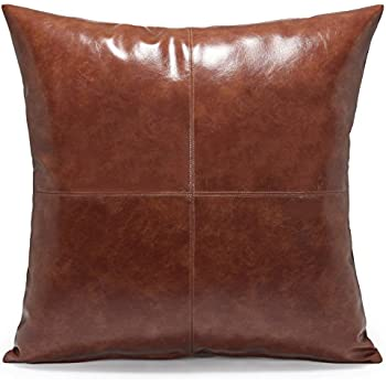 faux inches handmade slp modern amazon cushion pillows designer kdays halftan leather throw cover decorative pillow com