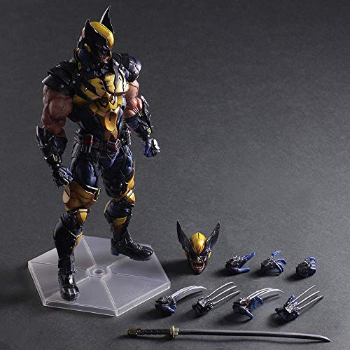 (Marvel Universe Variant Play Arts Kai Wolverine PVC Action Figure New In Box)