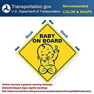 Latest Design- Baby on Board Sticker Sign (3 Pack), Baby...