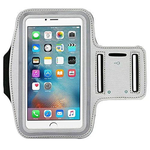 Universal Water Resistant Sports Armband,iBarbe,case Bundle with Screen Protector for iPhone 7/6/6S Plus,LG G6 G5,Galaxy s8,s8 plus s7 s6 Edge,Note 5 Sport Exercise Running Pouch Key Holder (gray)