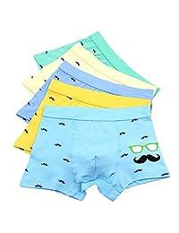 Boy's Boxer Briefs Comfortable Cotton Short Toddler Underwear 5 Pack