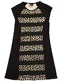 Flowers by Zoe - Big Girls' Cap Sleeve Dress, Black, Camel 33103-12