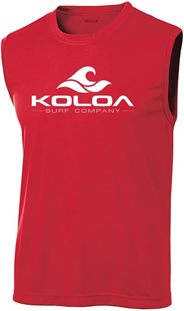 Koloa Surf Classic Wave Logo Moisture Wicking Sleeveless T-Shirts. Sizes: XS-4XL