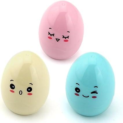 Westeng Pack de 3 Kawaii Cartoon Diseño de huevos de plástico solo agujero Sacapuntas(color al azar): Amazon.es: Bricolaje y herramientas