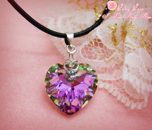 "* Heart of the Purple Ocean * Swarovski Crystal Pendant ~ Fits 18"" American Girl Doll, Baby & Kids Zone"
