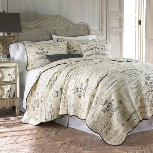Histoire Paris FRENCH Country SCRIPT Cream Charcoal Grey