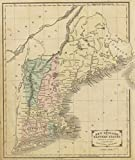 1864 School Atlas | New England or Eastern States. Designed to accompany Cornell's High school geography. | Antique Vintage Map Reprint