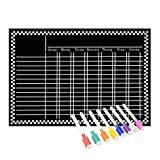 Magnetic Refrigerator Chalkboard (8 Free Markers), Dry Erase Board, Chore, ...