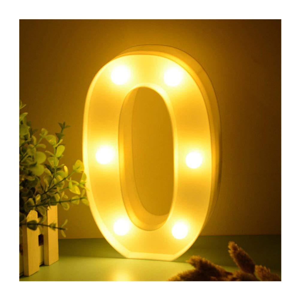 LED Números iluminada por lámpara número de 0123456789, luz blanca cálida luces Decoración Luces Carpa Luz, para fiestas, bodas empfänge Home, funciona con pilas, de dubens