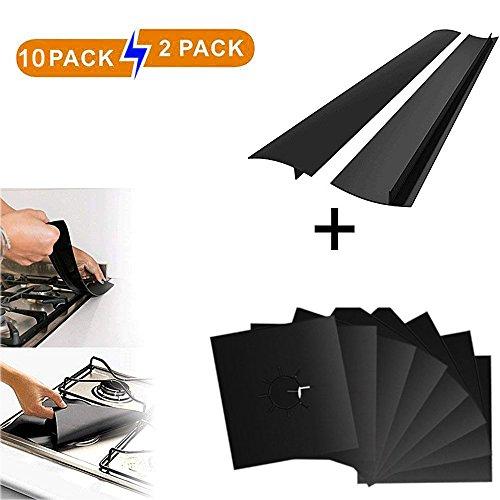 10PCS Stove Burner Cover & 2PCS Silicone Stove Counter Gap Cover