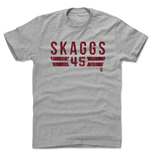 500 LEVEL Tyler Skaggs Cotton Shirt Large Heather Gray - Los Angeles Baseball Men's Apparel - Tyler Skaggs Los Angeles Font R