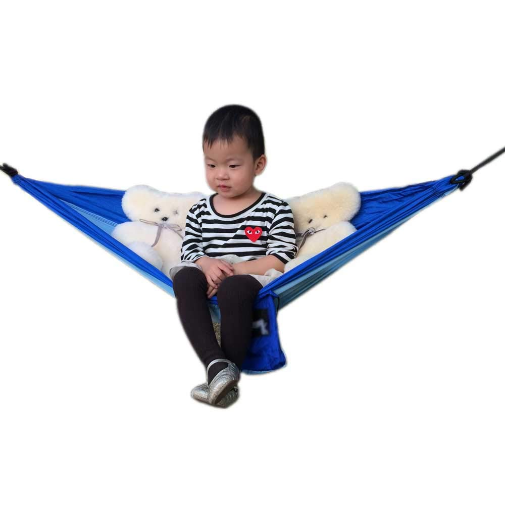 Camping Hammock for Kids, Teenage Use/ Lightweight Parachute Nylon Hammock for Camping, Garden, Travel, Backpacking,