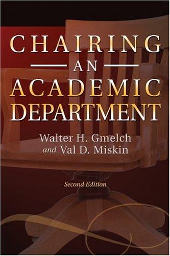 Chairing an Academic Department