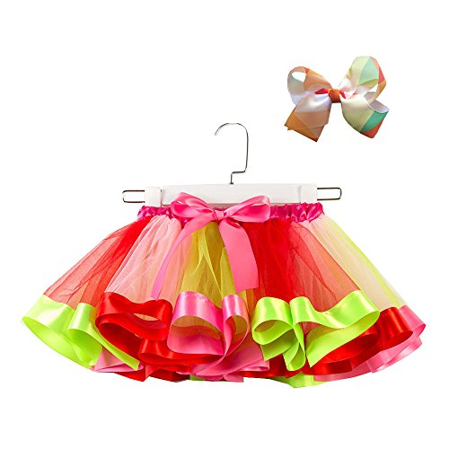 WOCACHI Girls Kids Tutu Party Dance Ballet Toddler Baby Costume Skirt+Bow Hairpin Set Newborn Mom Daughter Son Coverall Layette Sets Best Gift Multi Adorable Dress-up Outfits]()