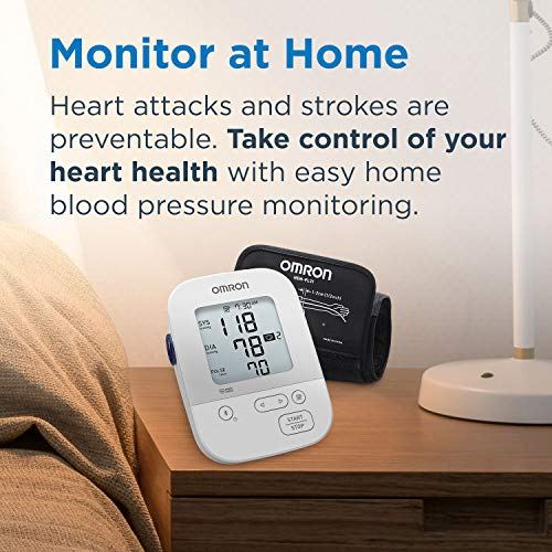 Omron Silver Blood Pressure Monitor, Upper Arm Cuff, Digital Bluetooth Blood Pressure Machine, Storesup To 80 Readings 5