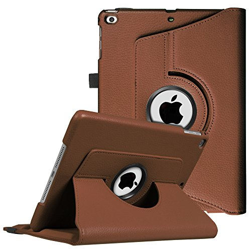 Fintie iPad 9.7 inch 2017 / iPad Air Case - 360 Degree Rotating Stand Cover with Auto Sleep Wake for Apple iPad 9.7 inch 2017 Tablet / iPad Air 2013 Model, Brown