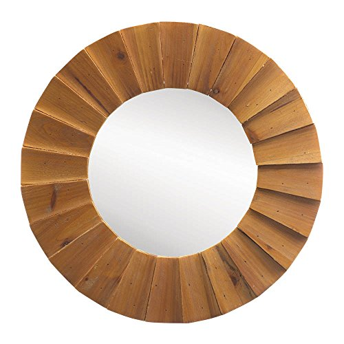 Beam Sunburst Wall Mirror - Wood Round Frames