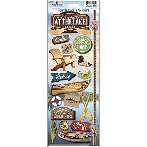 Paper House Productions STCX-0201E At The Lake Cardstock Stickers (6-Pack)