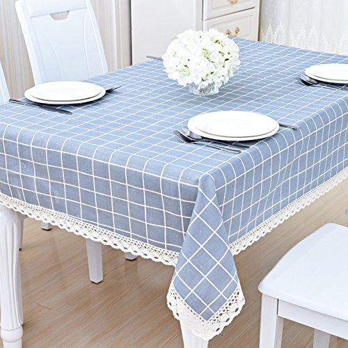 Price comparison product image High grade cotton tablecloth table towel rectangular cover cloth gorgeous american european style lattice stripes dinning room christmas decoration-I 140x180cm(55x71inch)