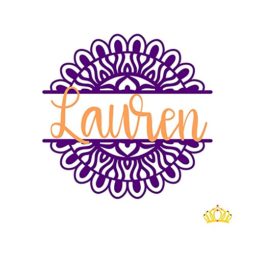 Split Mandala Name Decal Sticker for Car, Tumbler, or Laptop, Yeti Decal for - Names On Of View The Ladies