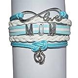 Mom Bracelet, Mom Son Bracelet Makes the Perfect New Mom Gift, Baby Shower Gift or Baby Gift (Blue)