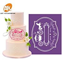 New Carriage Cake Fondant Molds Soft Mesh Stencil Lace Mat Wedding Cake Decorating Suppliers Damask Cake Stencil Template MST-31