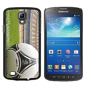 Balón de fútbol- Metal de aluminio y de plástico duro Caja del teléfono - Negro - Samsung i9295 Galaxy S4 Active / i537 (NOT S4)