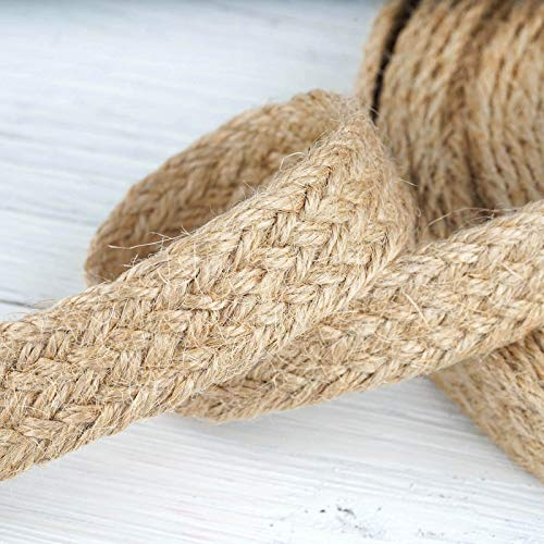 Trim Jute (Efavormart Natural Color Wedding Banquet Picturesque Woven Rustic Burlap Ribbon - 7/8