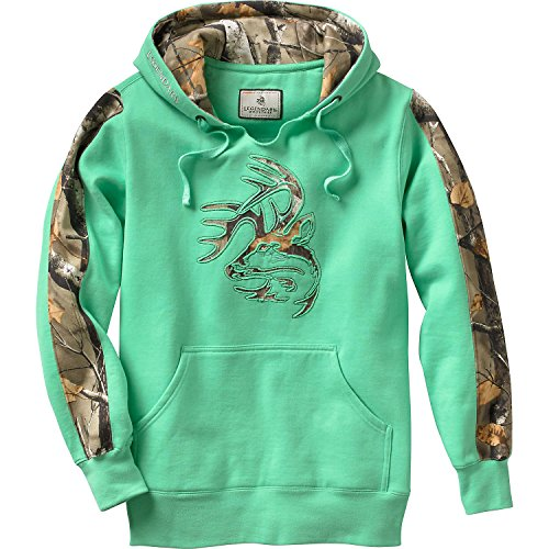 Hoodie Green Camo - Legendary Whitetails Ladies Outfitter Hoodie (Mint Green, 1X)