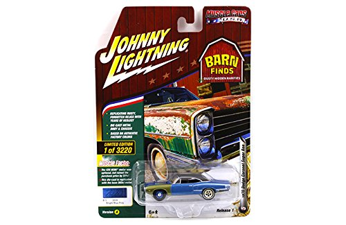 New 1:64 AUTO WORLD JOHNNY LIGHTNING MUSCLE CARS USA 2018 COLLECTION - 1970 Dodge Coronet Super Bee (Bright Blue Poly)