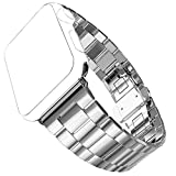 Apple Watch Band, No1seller Extreme Thin&Light Premium Stainless Steel Band Watchband Strap Bracelet with Butterfly Clasp for Apple Watch Series 1, Series 2(Silver, 42mm)