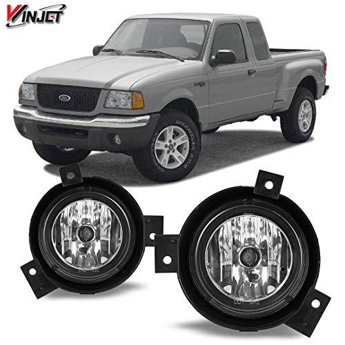 - Winjet WJ30-0178-09 OEM Series for [2001-2003 Ford Ranger] Clear Lens Driving Fog Lights