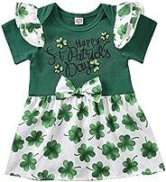YAZAD St Patrick's Day Newborn Baby Girls Outfits Short Sleeve Clover Romper Toddler Bodysuit Sund