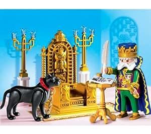 Playmobil King with Throne - kits de figuras de juguete para niños (Multi, De plástico)