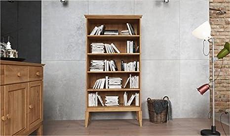 Libreria In Quercia Naturale Alissia Naturale Oliato Doppio 94 Cm