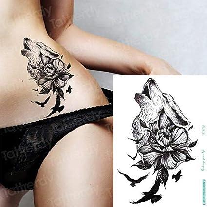 HXMAN 5 Unids Tatuaje Temporal Lobo Impermeable Tatuajes ...
