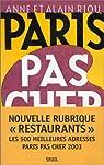 Paris pas cher 2003 par Riou