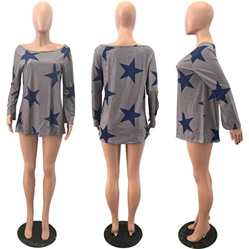 Vovotrade Adorable Women Girl Strapless Star Sweatshirt Long Sleeve Crop Jumper Pullover Tops