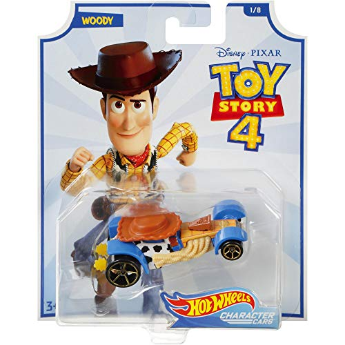 Hot Wheels Personaje Cars Toy Story 4 Woody