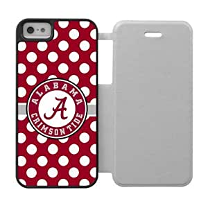 Generic Custom Unique Design NCAA University of Alabama Crimson Tide Team Logo Cover Case for iPhone5 iPhone5S
