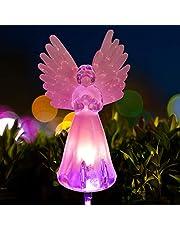 Angel lamp Solar Lawn Light Angel Solar Lawn Light, Garden Angel Gifts Garden Decor Garden Gifts for mom Memorial Stones for Loved Ones(1 pcs)