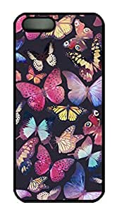 fashion case Cute Fancy Colorful Butterfly Pattern Design for iphone 6 4.7 kbVTivu3YEf case cover in PC Black Material