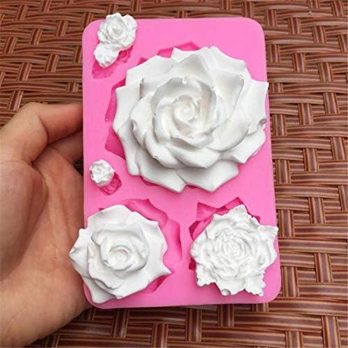 ZABB Silicone Mold 3D Rose Soap Mold DIY Baking Tools for Cake Fondant Chocolate Making