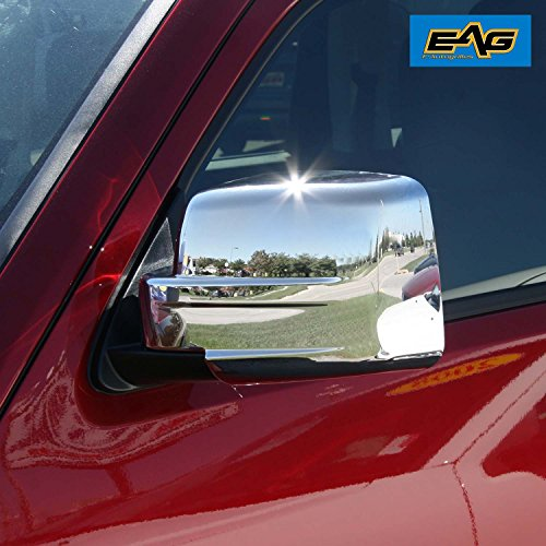 (EAG Chrome Mirror Cover Fit for 07-11 Dodge Nitro /07-16 Jeep Patriot/08-12 Jeep Liberty )