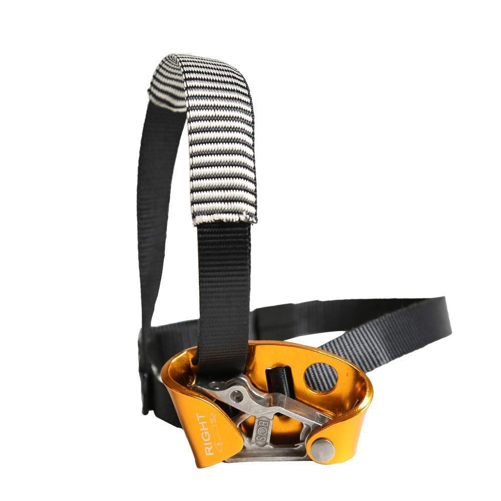HWPYSLV Right Foot Riser Climber Foot Type, Riser Rope Climbing Outdoor, Mountaineering Equipment Supplies,Yellow,A