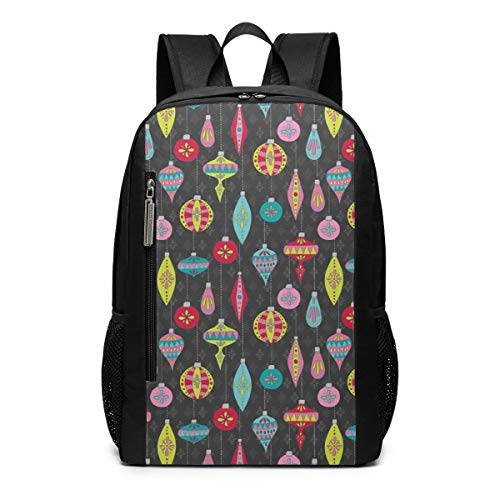 A Bright Gray Ornament School Travel Casual Daypack Backpack for Business College Women Men Laptop Large Computer Bag Polyester