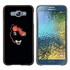 "Be-Star Único Patrón Plástico Duro Fundas Cover Cubre Hard Case Cover Para Samsung Galaxy E7 / SM-E700 ( Resumen de la cara del lobo marino Animal"" )"