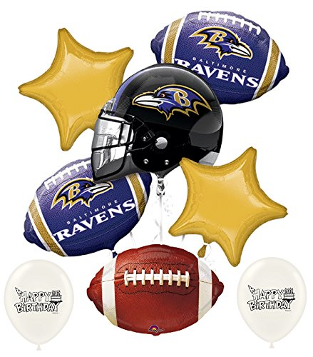 - NFL AFC Football Teams Party Balloon Bouquet Bundle with Team Option (Baltimore Ravens)