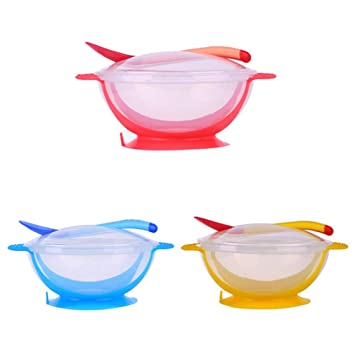 Self-Conscious Baby Learning Dishes Spoon Fork Bowl Set Suction Cup Tableware Eating Feeding Bowls & Plates Feeding