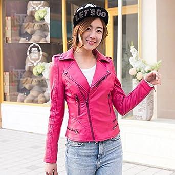 Veste cuir rouge femme grande taille